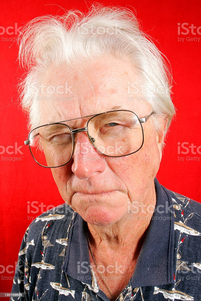 Serious senior royalty-free stock photo