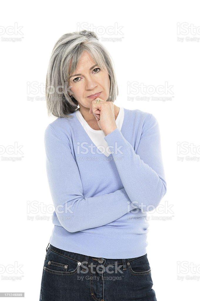 Serious Senior Woman royalty-free stock photo