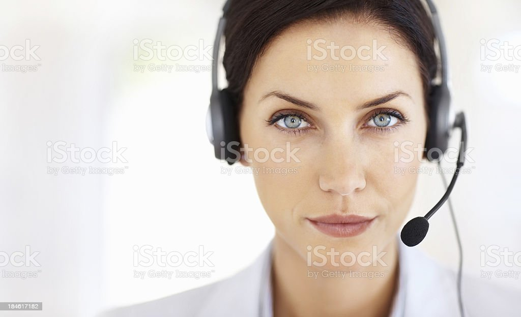 Serious service royalty-free stock photo