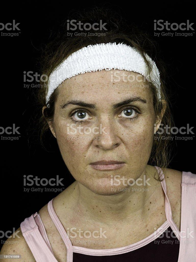 Serious sport woman royalty-free stock photo