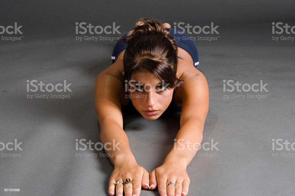 Serious Stretch stock photo