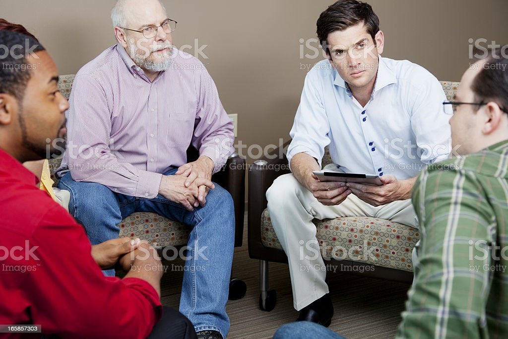 Serious team business meeting royalty-free stock photo