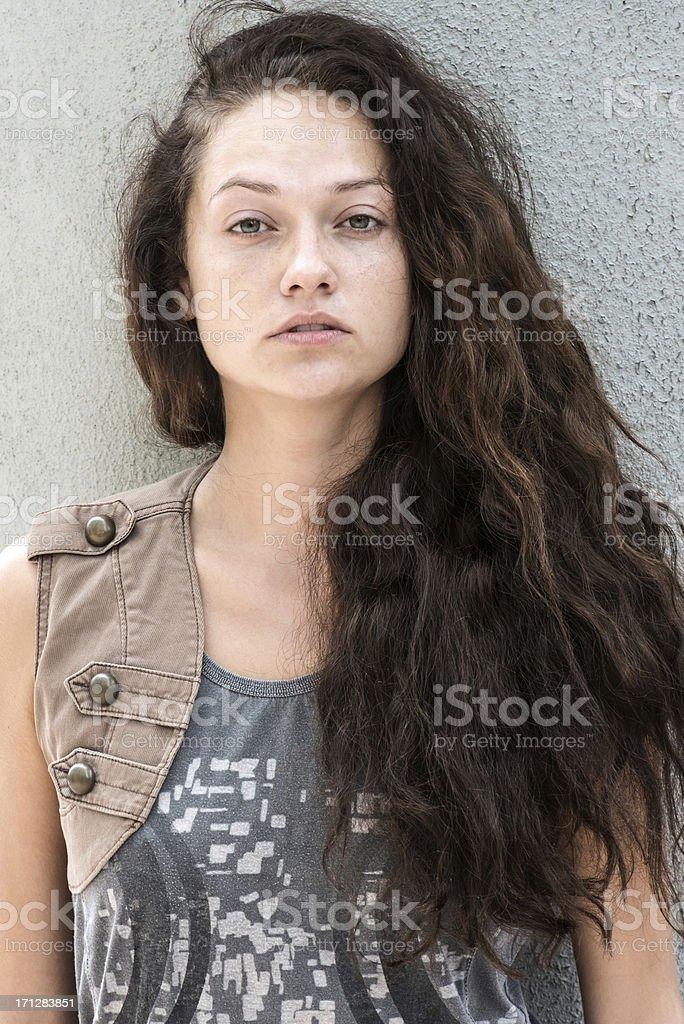 Serious Teenage girl stock photo