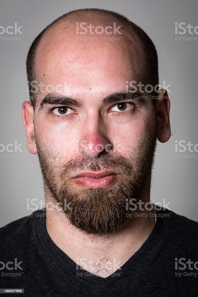 Serious thirty something man stock photo