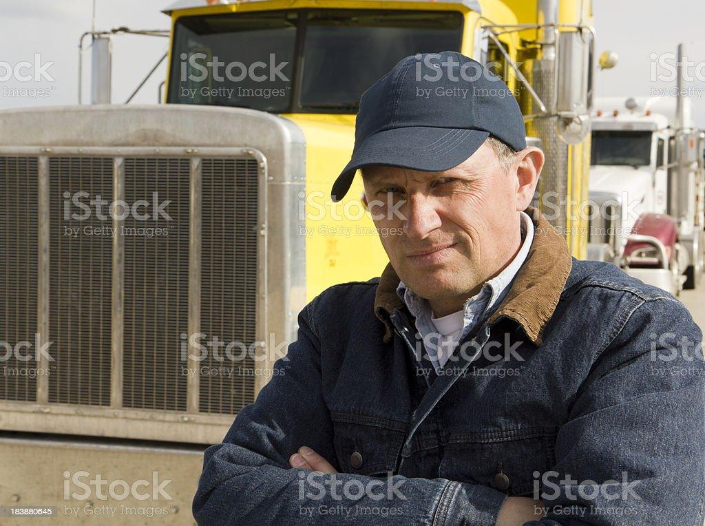 Serious Trucker royalty-free stock photo