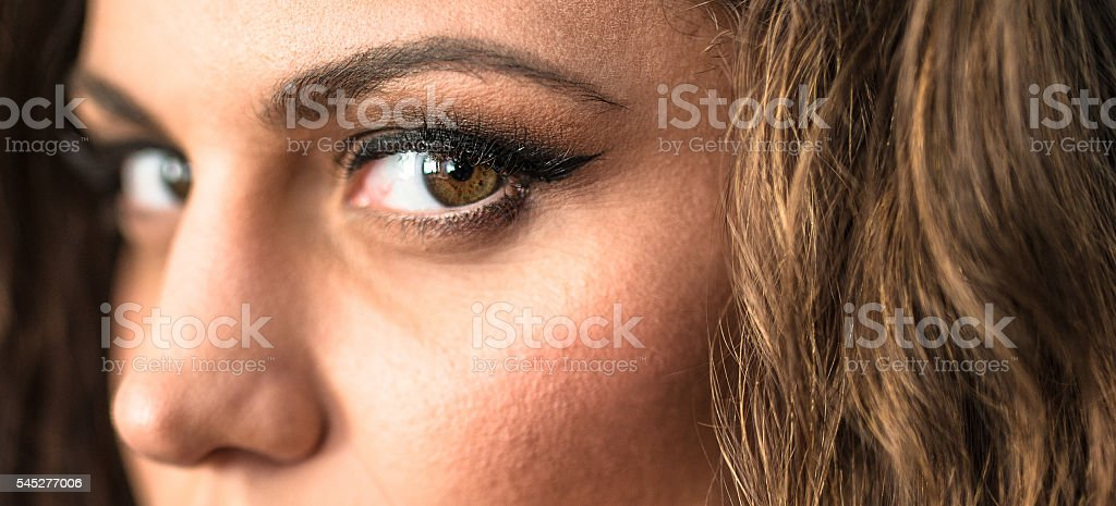 serious woman beauty portrait stock photo