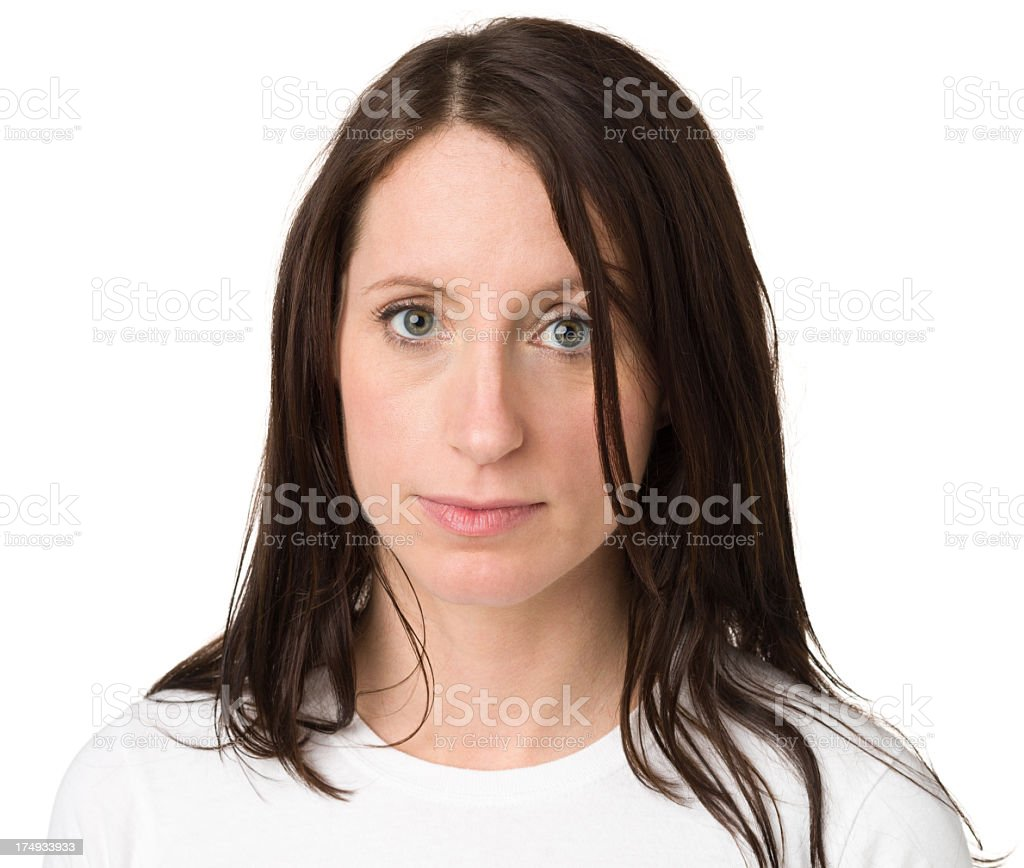 Serious Woman Looking At Camera royalty-free stock photo