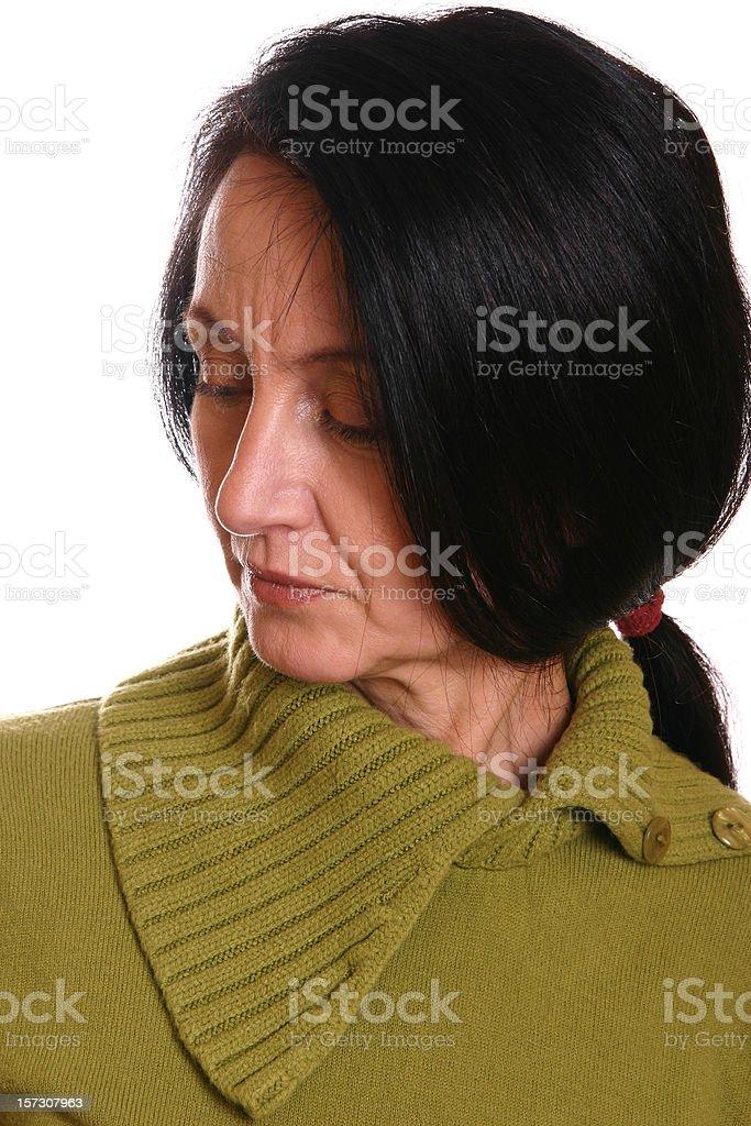 Serious woman stock photo