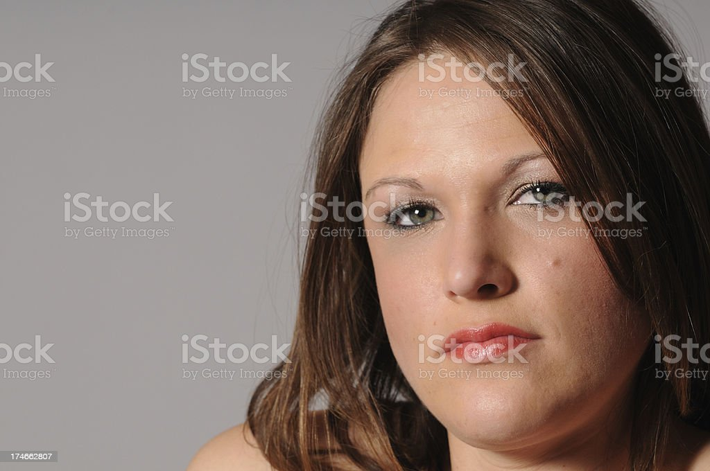 Serious Woman royalty-free stock photo