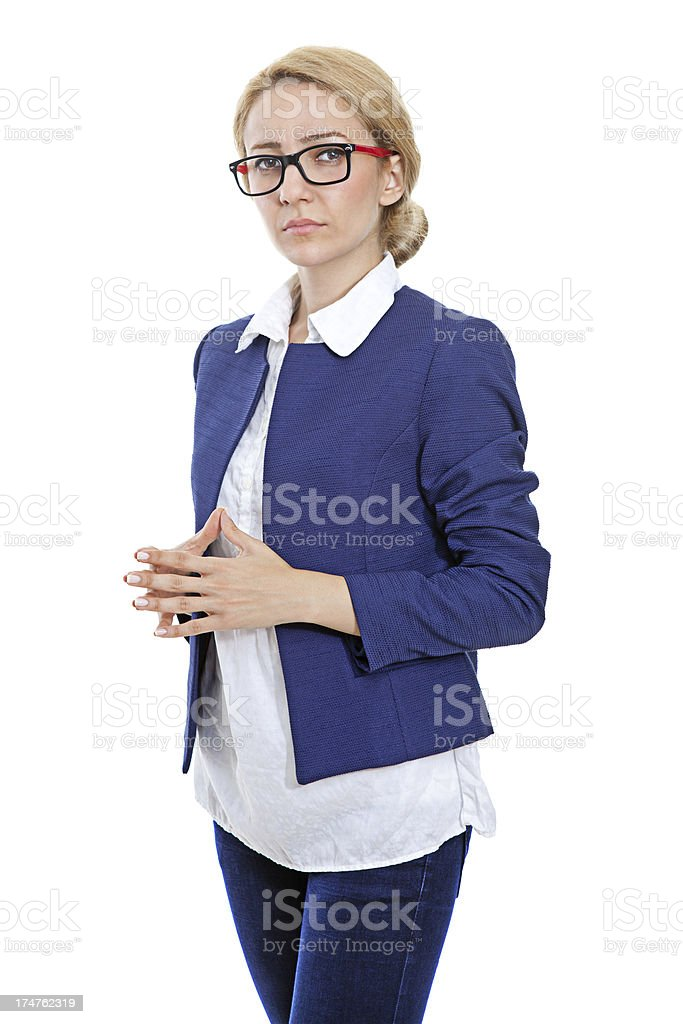 Serious Woman royalty-free stock photo