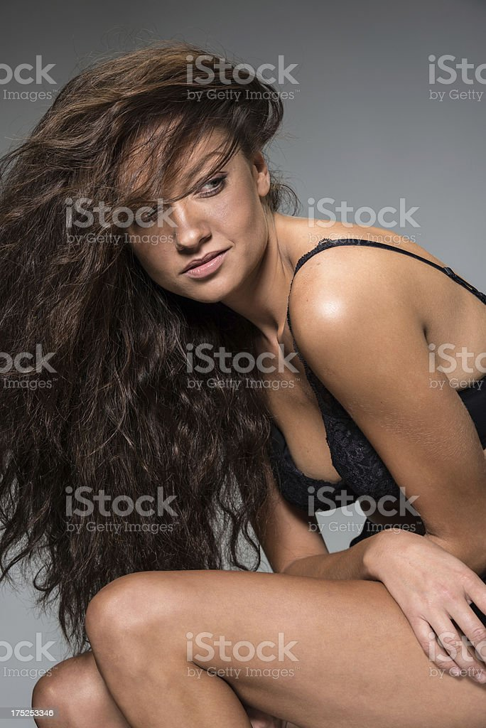 Serious Woman (real people) royalty-free stock photo