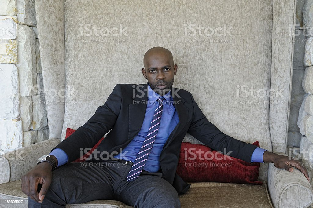 Serious Young Businessman stock photo
