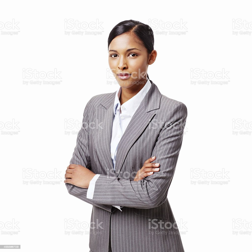 Serious Young Businesswoman - Isolated royalty-free stock photo