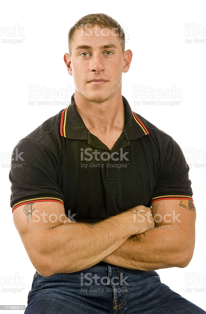 Serious Young Man royalty-free stock photo