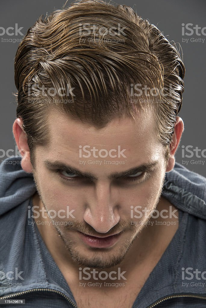 Serious Young man (real people) stock photo