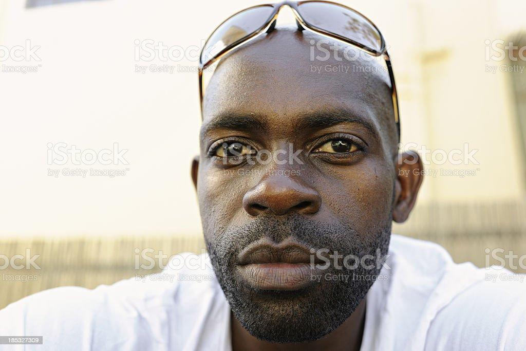 Serious Young Man stock photo