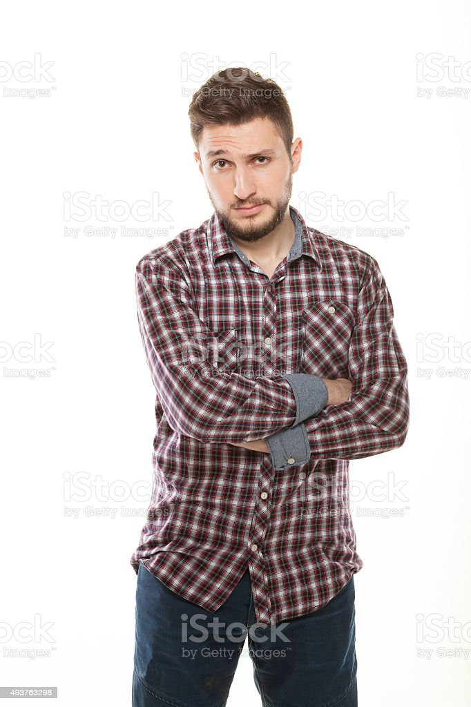 Serious Young Man Portrait stock photo