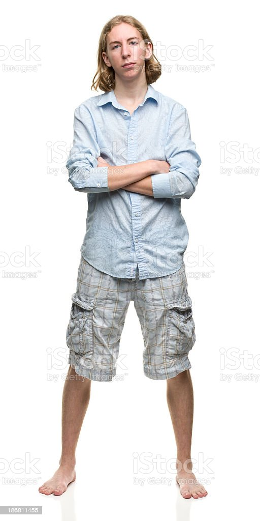 Serious Young Man Posing stock photo