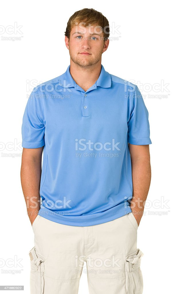 Serious Young Man Standing stock photo