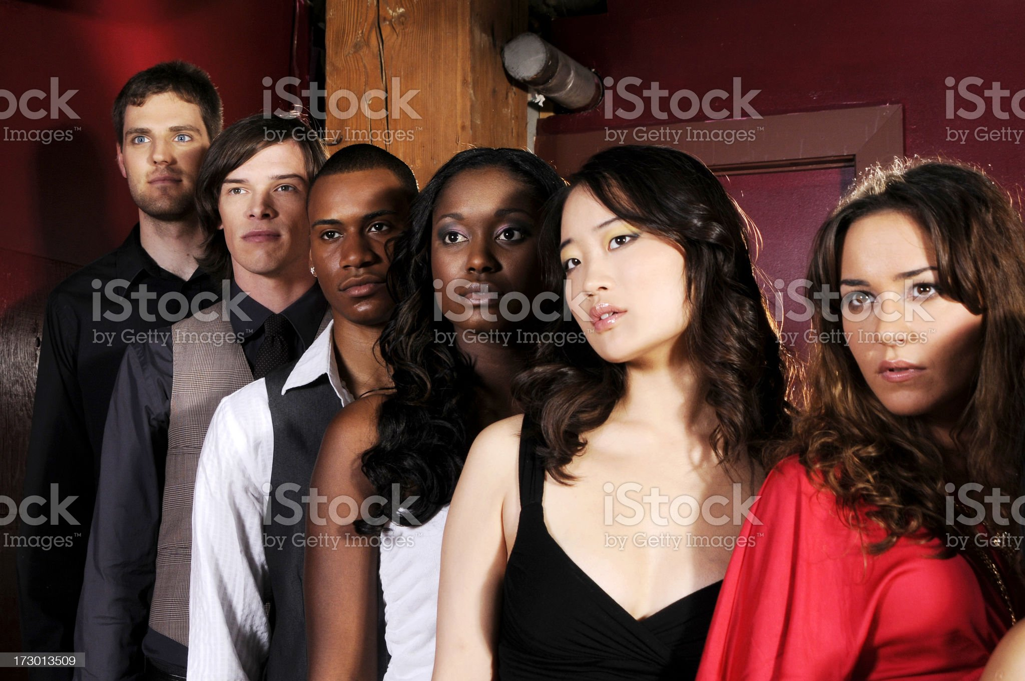 Serious Young People royalty-free stock photo