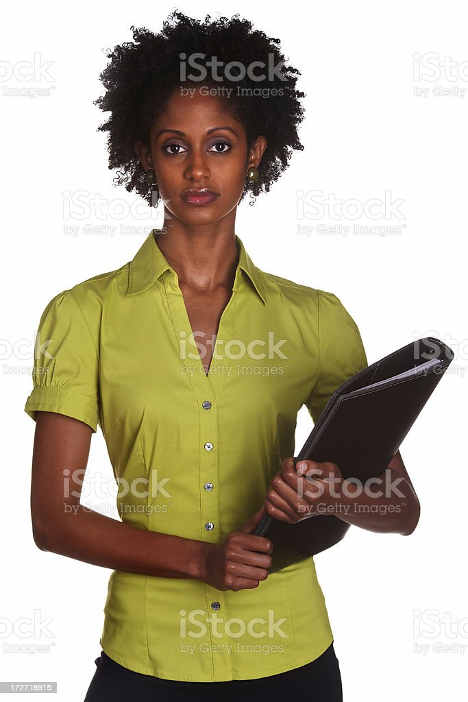 Serious Young secretary royalty-free stock photo