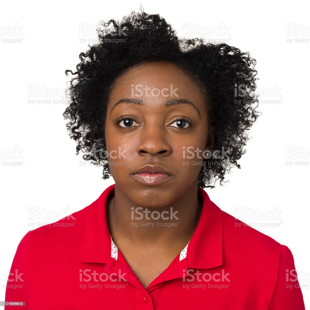 Serious Young Woman Portrait royalty-free stock photo