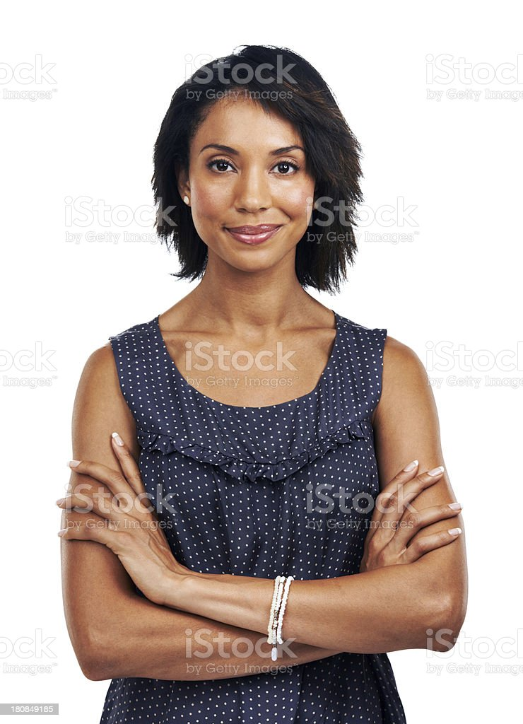Seriously confident stock photo