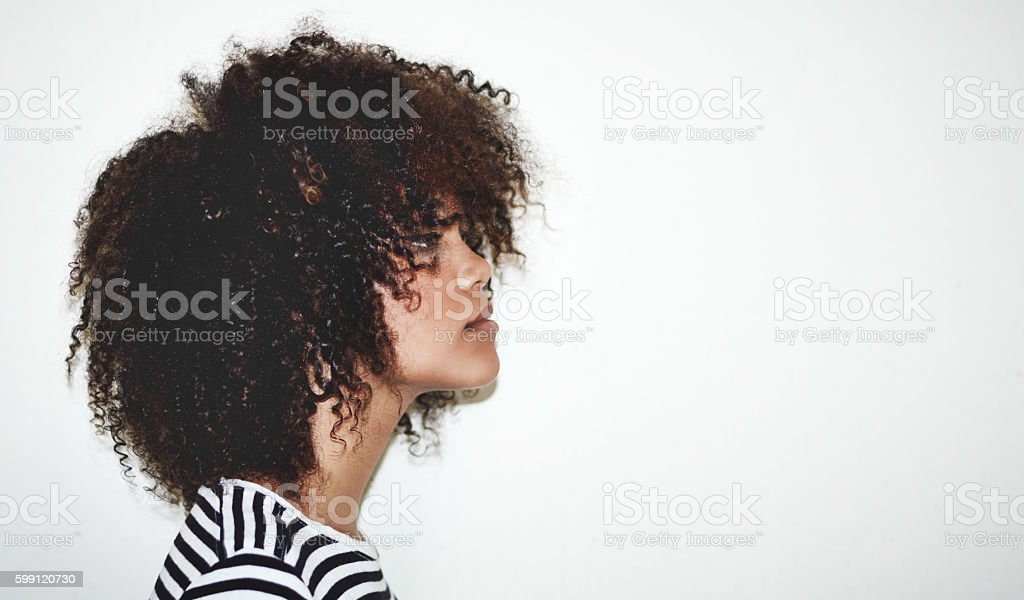 Seriously cute curls stock photo