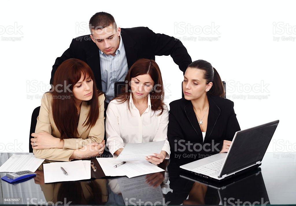Serius business team royalty-free stock photo