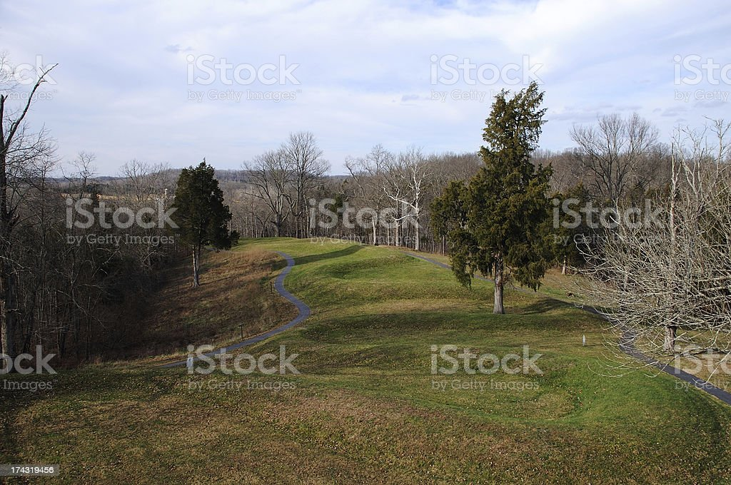 Serpent Burial Mound stock photo