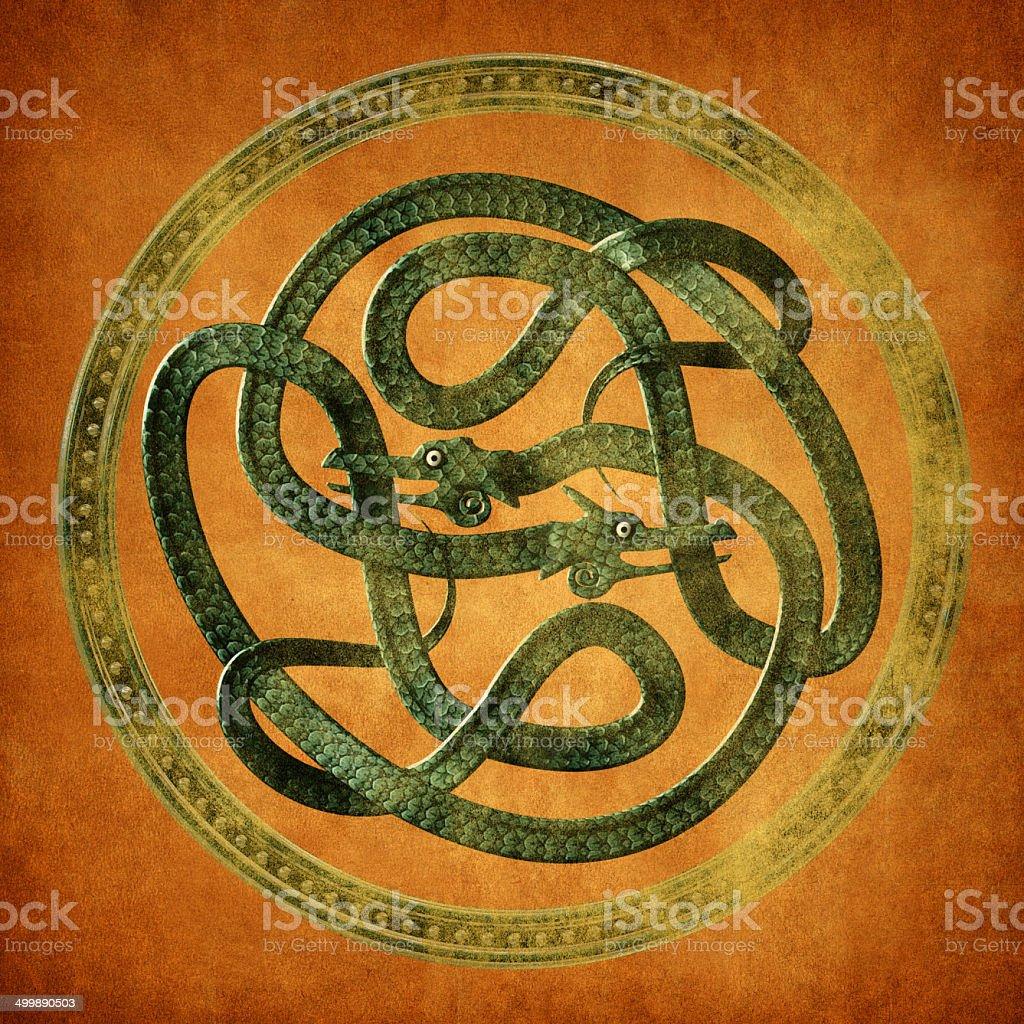 Serpent Celtic Knot stock photo