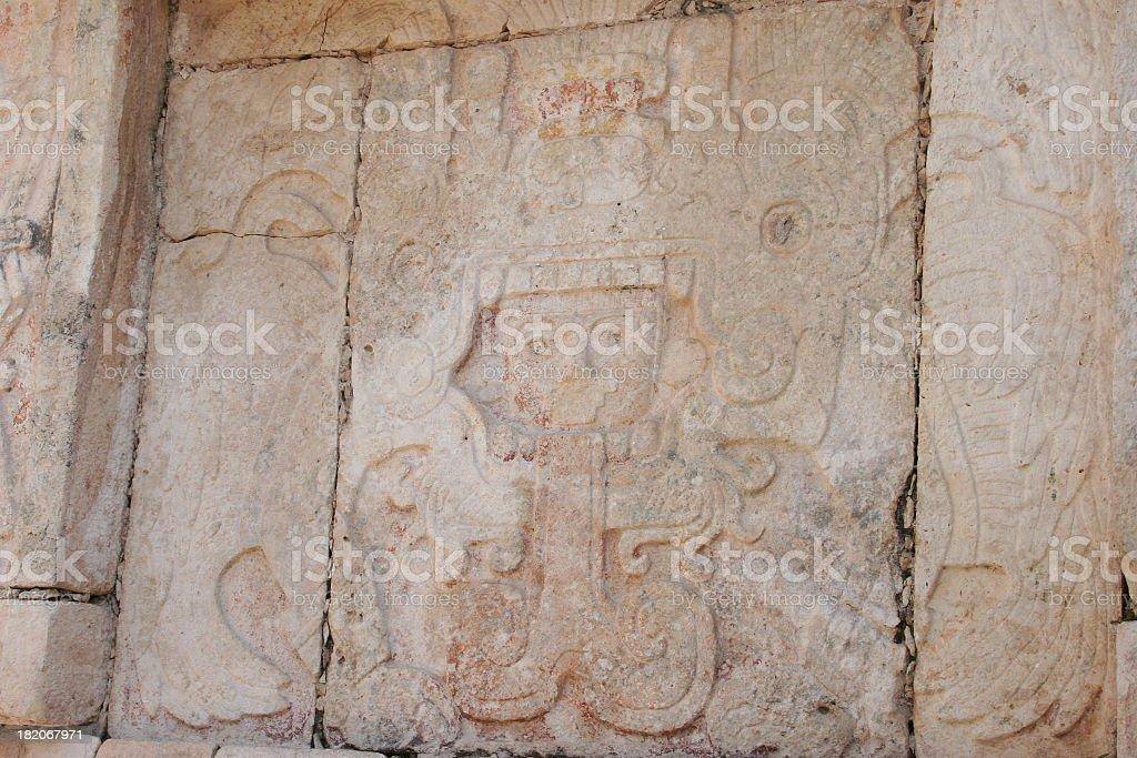 Serpent god Kukulcan royalty-free stock photo