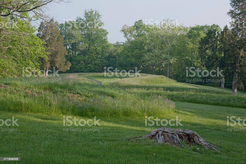 Serpent Mound stock photo