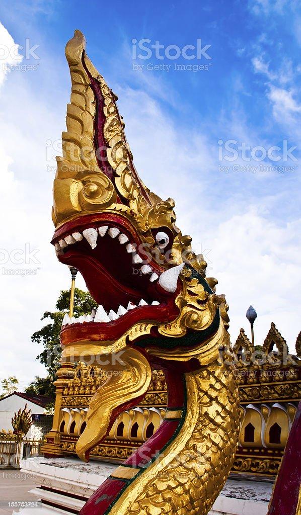 Serpent standing stock photo