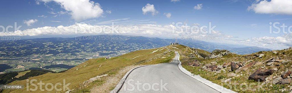 Serpentine Mountain Road royalty-free stock photo