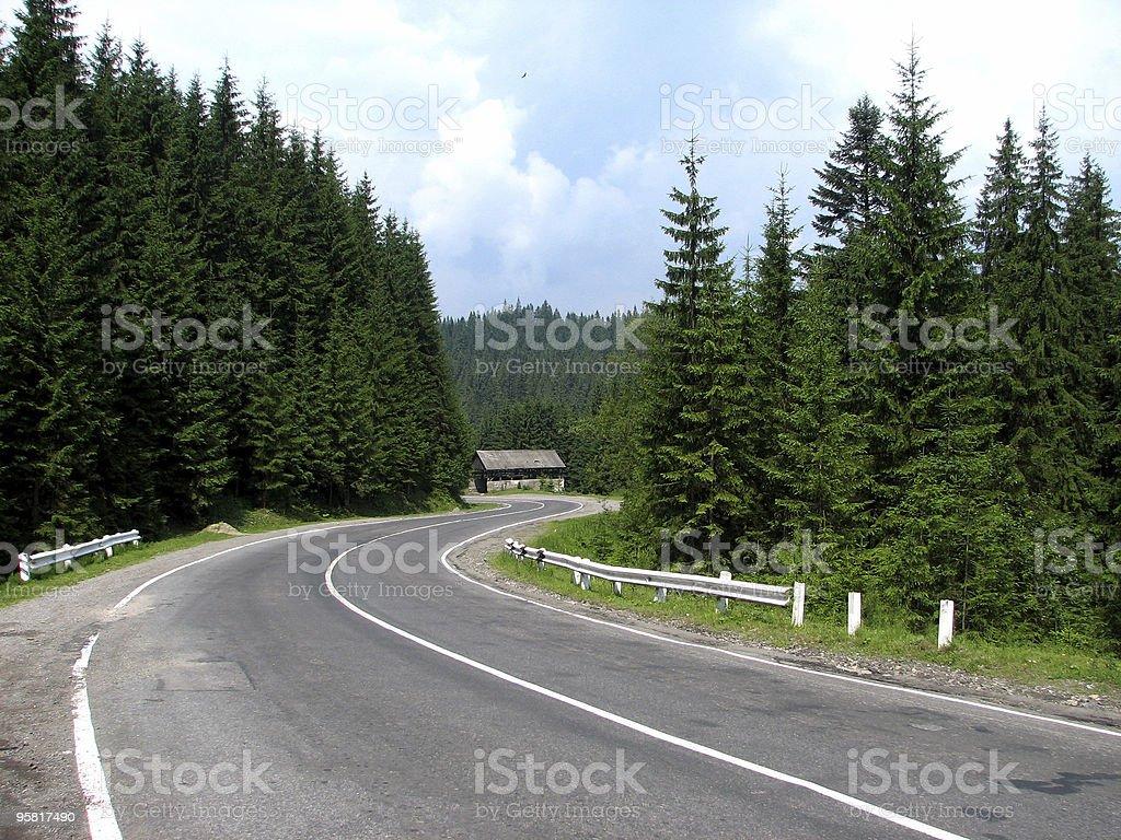 serpentine road stock photo