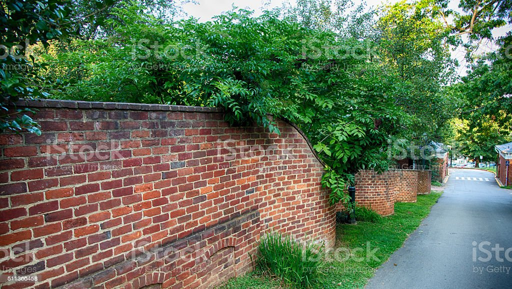 Serpentine Walls stock photo