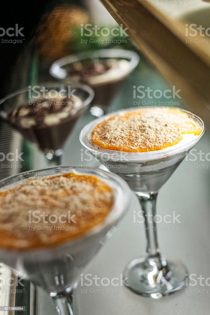 serradura famous traditional macau portuguese pudding sweet dessert stock photo