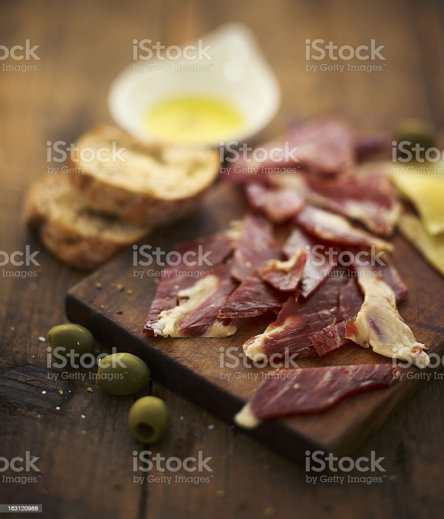 serrano ham stock photo