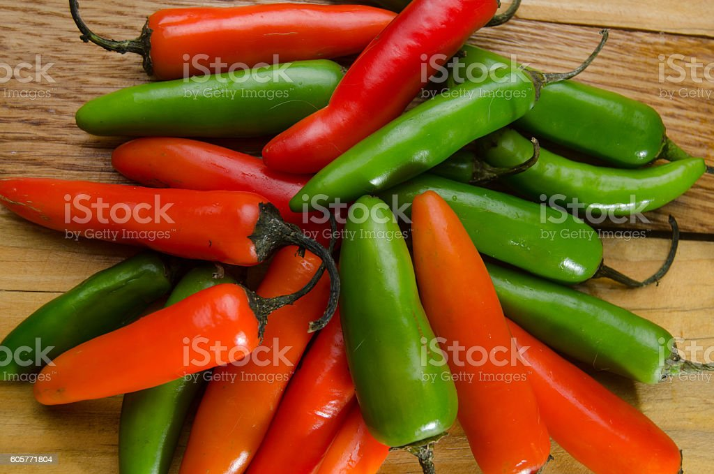 Serrano pepper stock photo