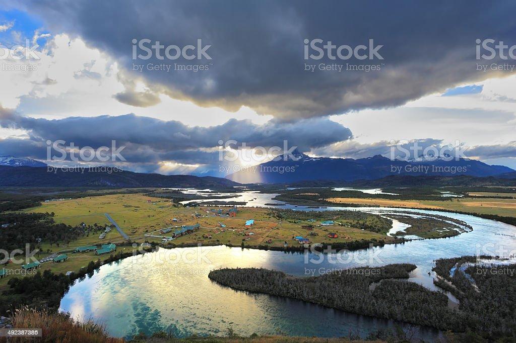 Serrano River Valley stock photo