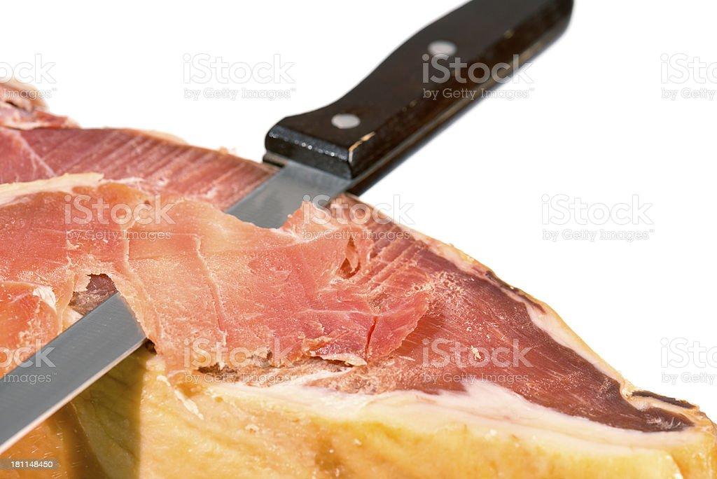 Serrano Schinken, Jamon Iberico, Ham royalty-free stock photo
