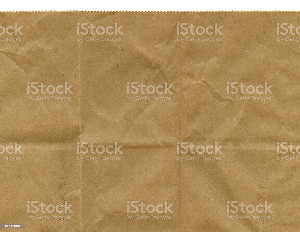 Serrated Edge of Brown Paper Bag stock photo