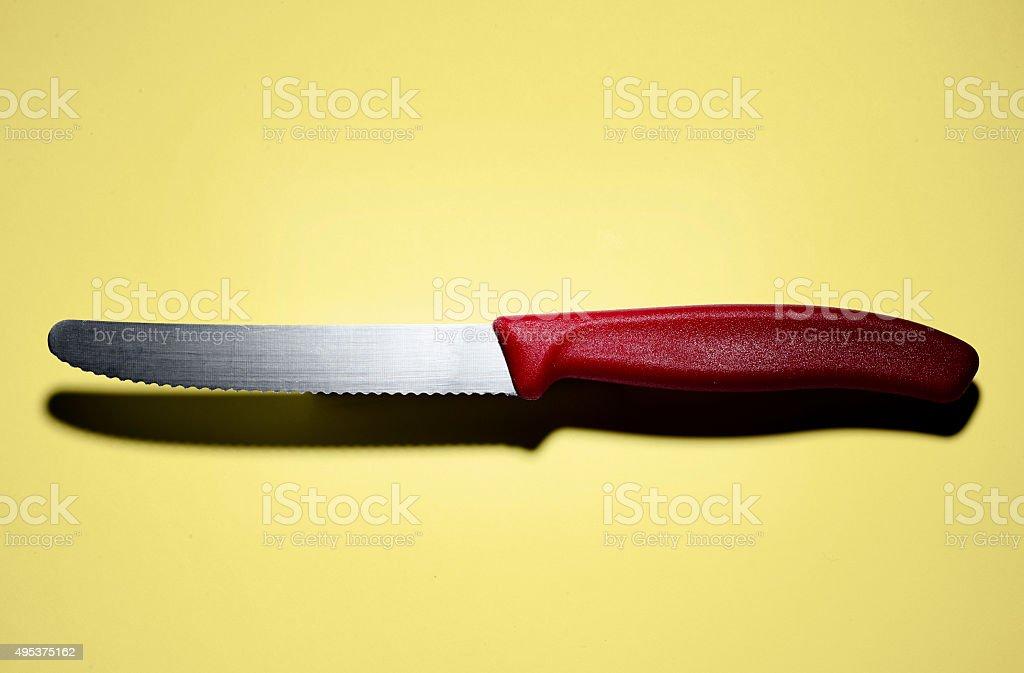 Serrated knife stock photo