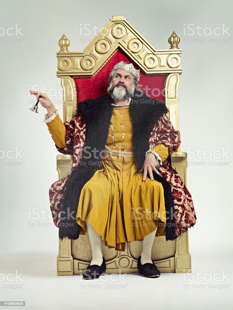 Servants! Come hither stock photo