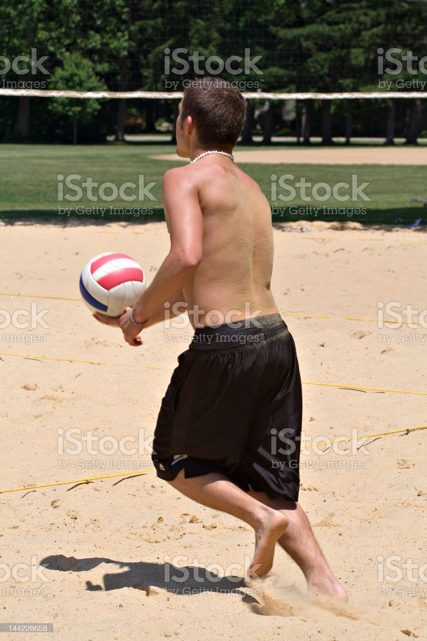 Serve Volleyball royalty-free stock photo