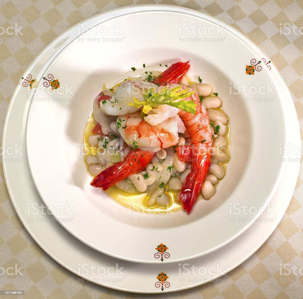 Served lobster royalty-free stock photo