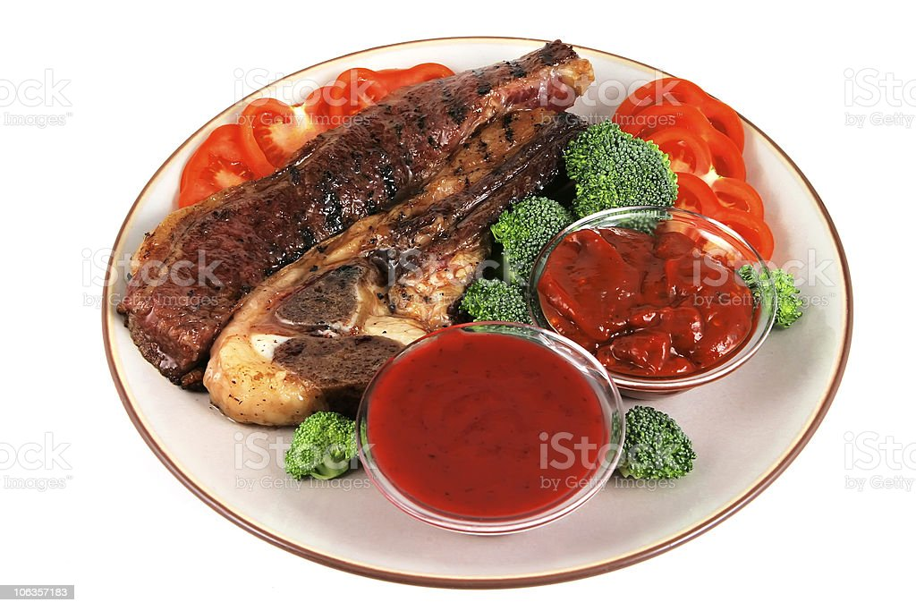 served roast steak royalty-free stock photo