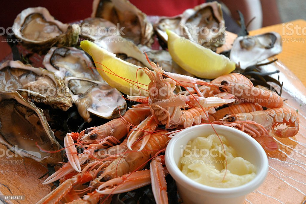 Served seafood royalty-free stock photo