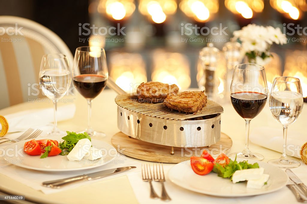 Served table at restaurant. royalty-free stock photo